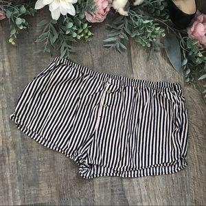 Aerie pajama sleep shorts navy stripe
